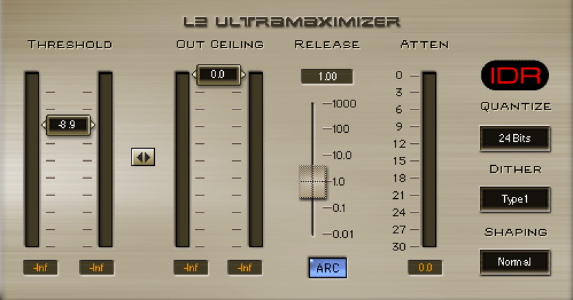 Raising the sound pressure「limiter」