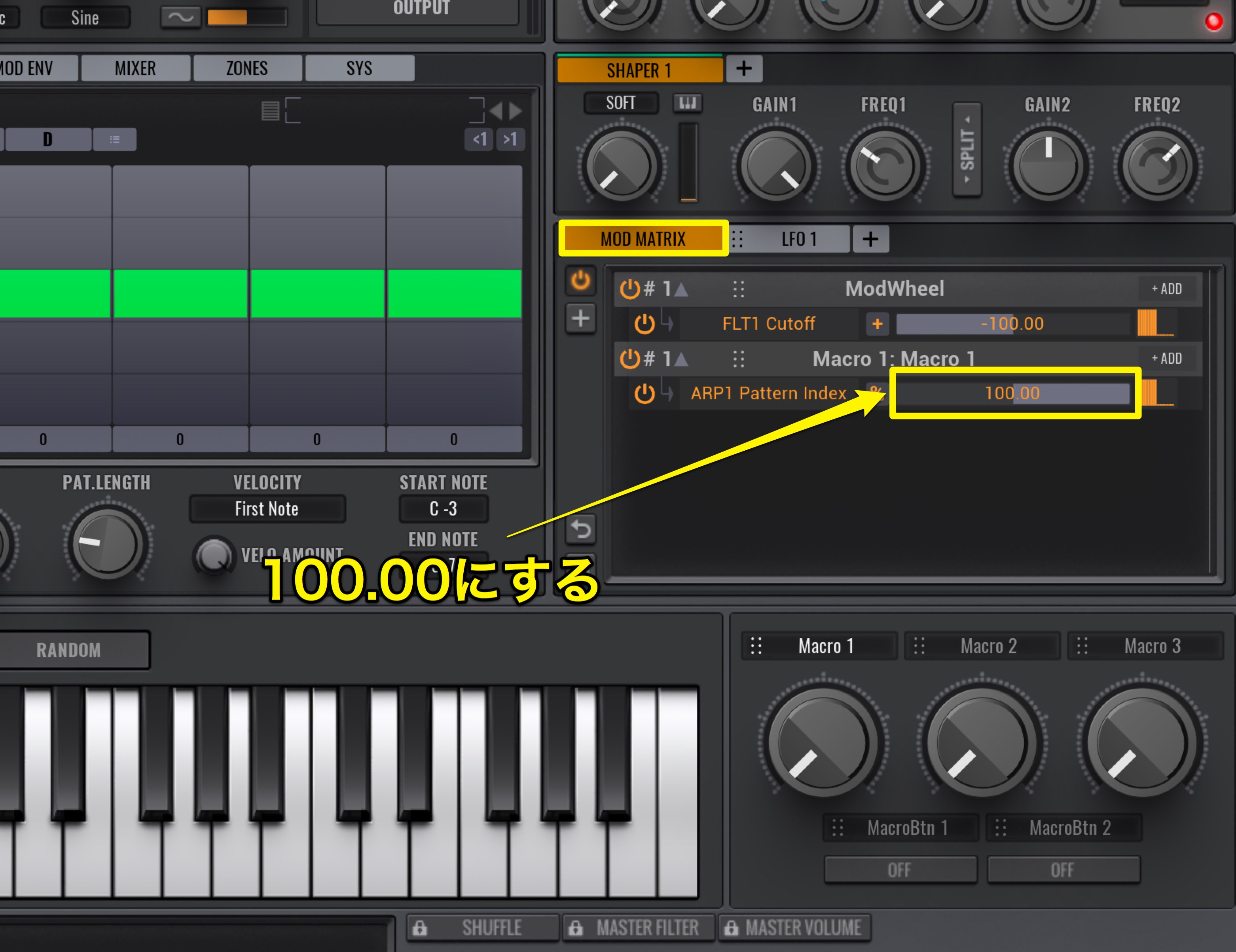 Vengeance Sound Avenger - How to use - Arpeggiator and Macro