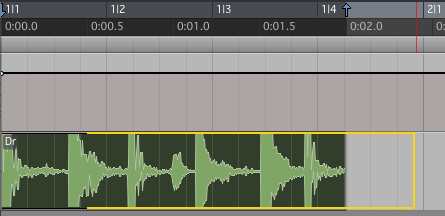 オーディオをテンポに合わせる タイムストレッチ機能