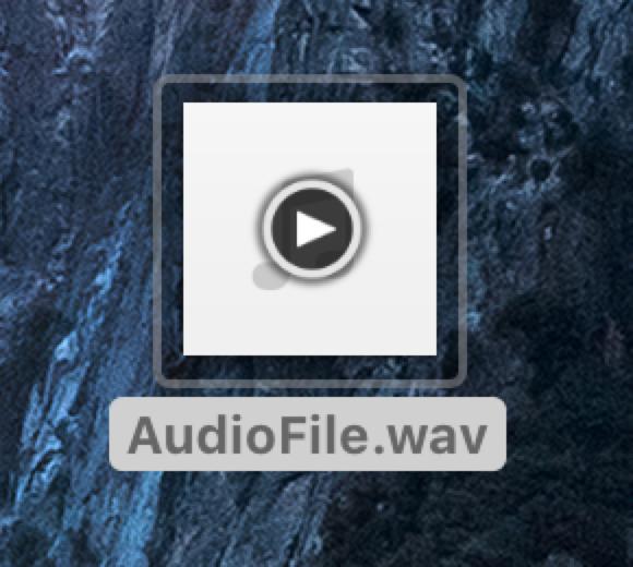 「オーディオファイルが見つかりません」という警告