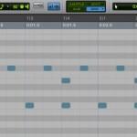 MIDIエディタの打ち込み
