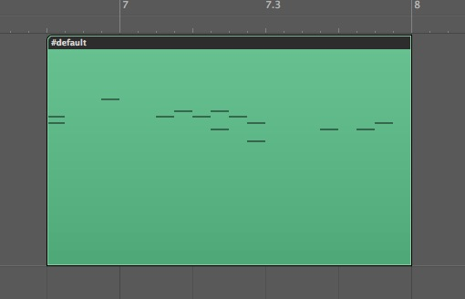 Logic MIDIトラック
