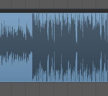 Logic オーディオトラック 波形