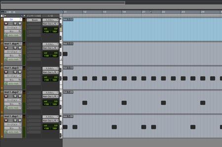 MIDIリージョンを各キットごとに分割