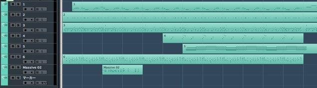 MIDI読み込み後