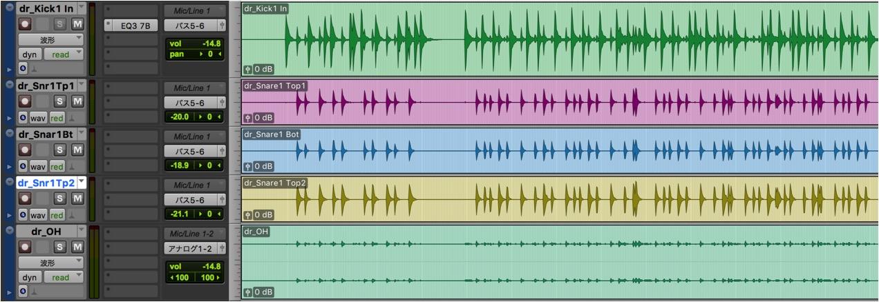 Drums波形