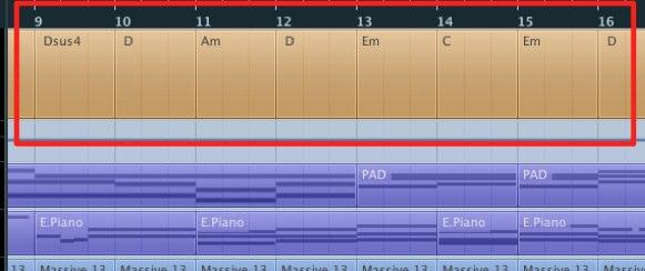 楽曲中のコードを一発で把握する