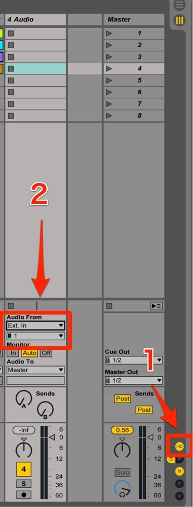 「IO」を点灯させ「InputOutput」部分を表示させます