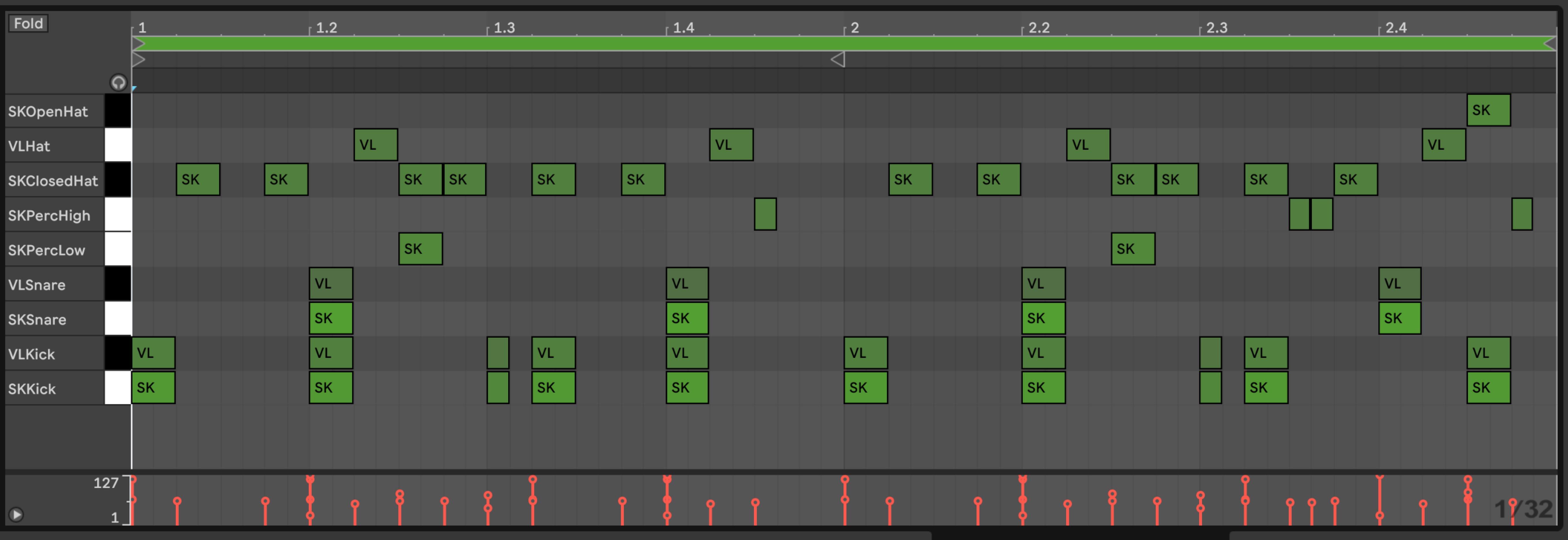 Ableton Live_10_ピアノロール