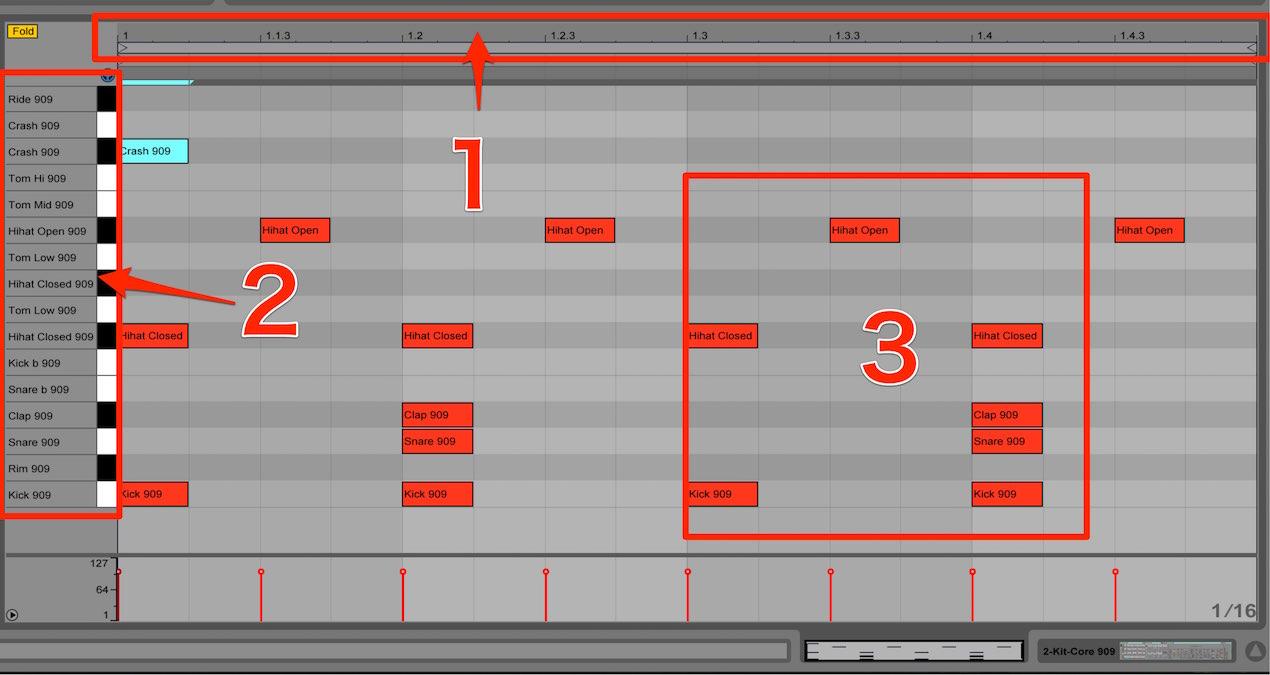 MIDIトラックの打ち込み