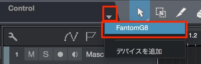 MIDIコントローラ選択