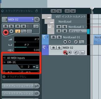 MIDI入出力