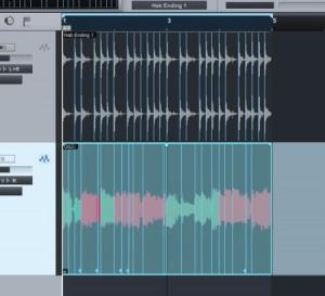 オーディオ/グルーブクオンタイズを使用する