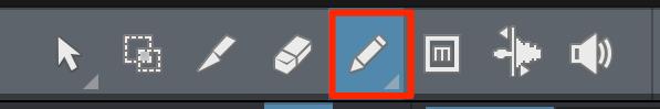 鉛筆ツール選択