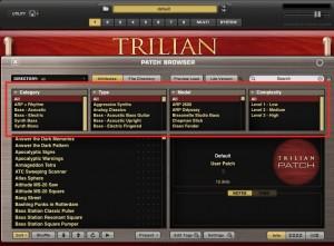 trilian音色選び
