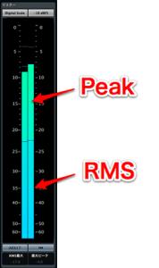 Cubase 7_音圧とRMSメーター