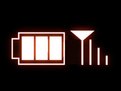電波、充電
