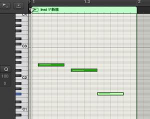 MIDIノートを書き込んだ際にサウンドが鳴らない Logic