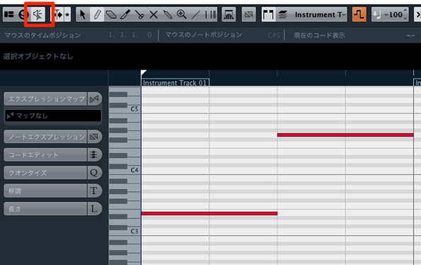 MIDIアウト 1