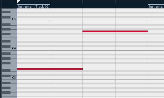 MIDIノートを書き込んだ際にサウンドが鳴らない Cubase