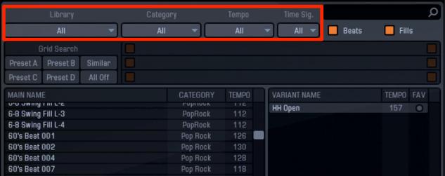 AddctiveDrums 2_Beats_ドラムパターンの選択と適用_3