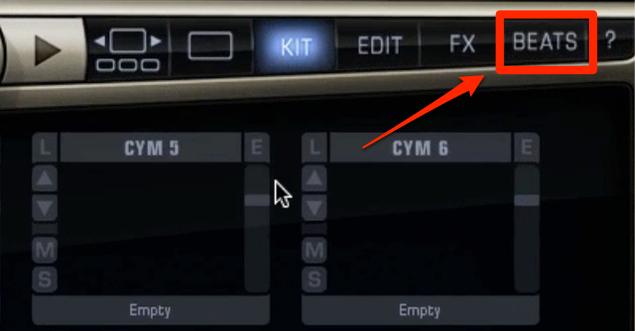 AddctiveDrums 2_Beats_ドラムパターンの選択と適用_1