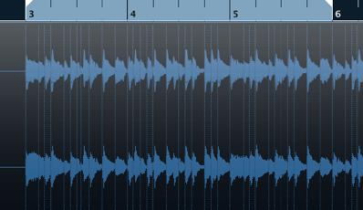 オーディオ素材をスライスし素材を抽出