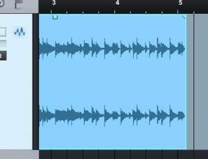 オーディオ素材をスライスするベンドマーカー
