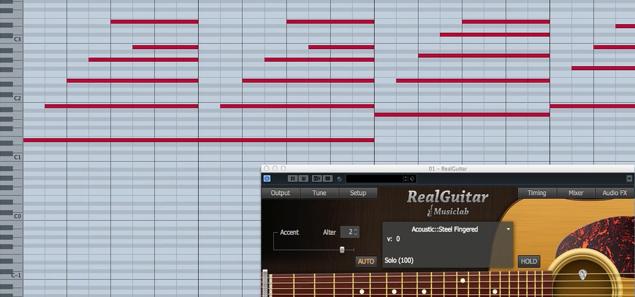 アコギを手軽に演奏させる RealGuitar 3