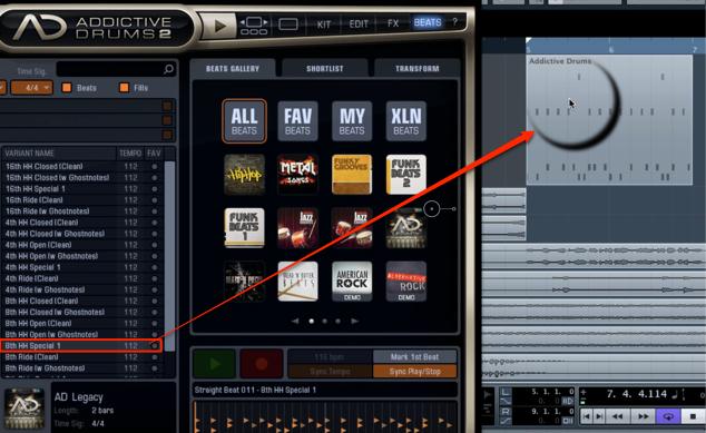 AddctiveDrums 2_Beats_ドラムパターンの選択と適用_7