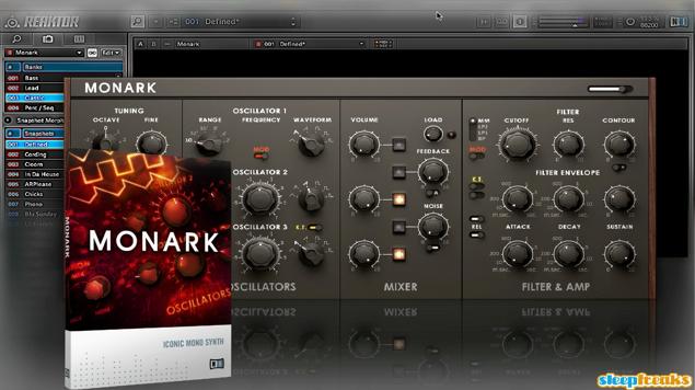 MinimoogのサウンドをモデリングしたMONARK
