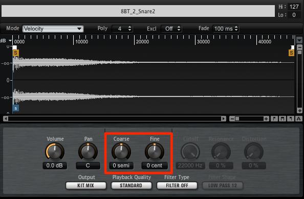 EDM Snare ピッチコントロール