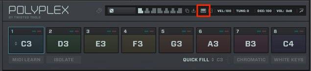 MIDIの割り当て