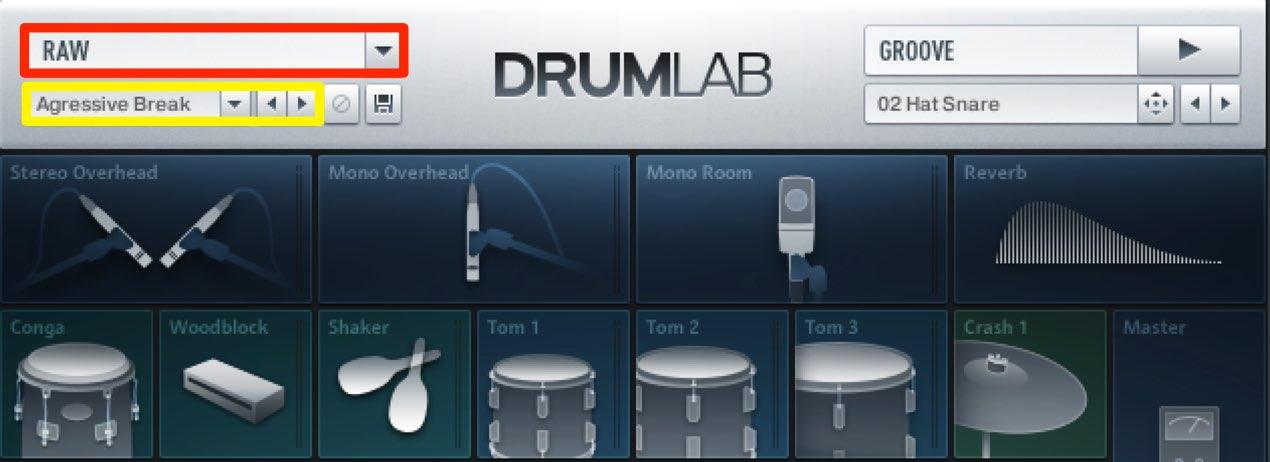 Drumlab  プリセットサウンド