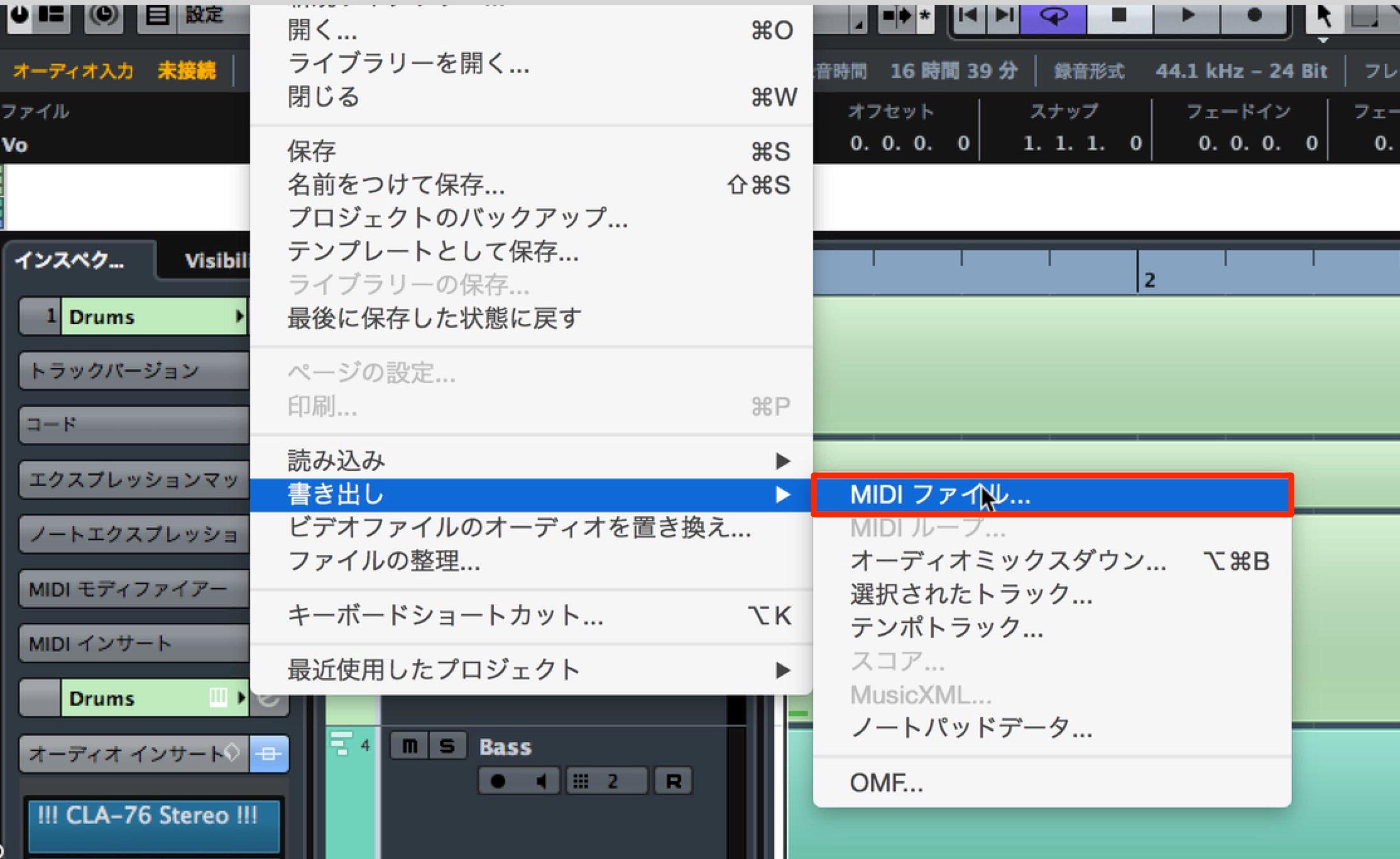 MIDIファイル