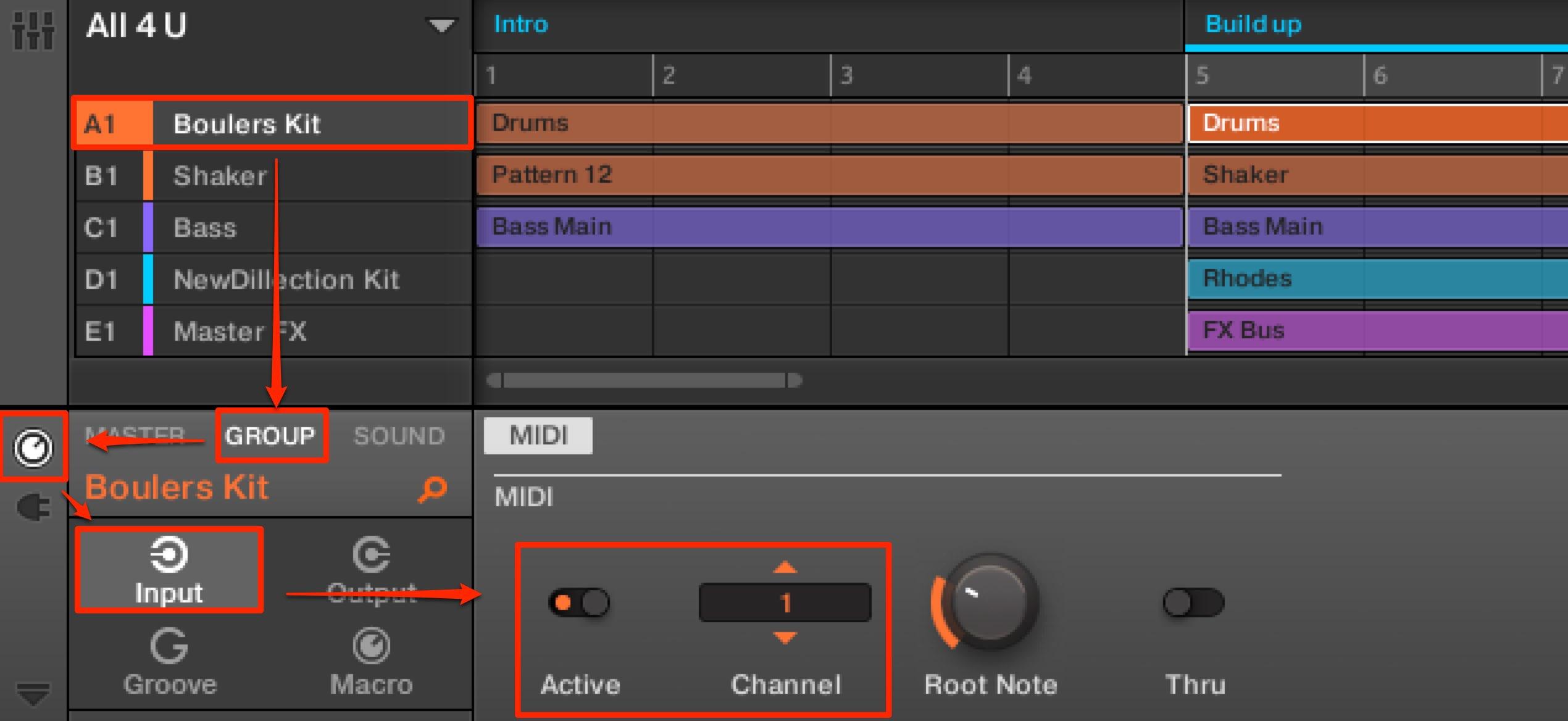 MIDIのルーティング