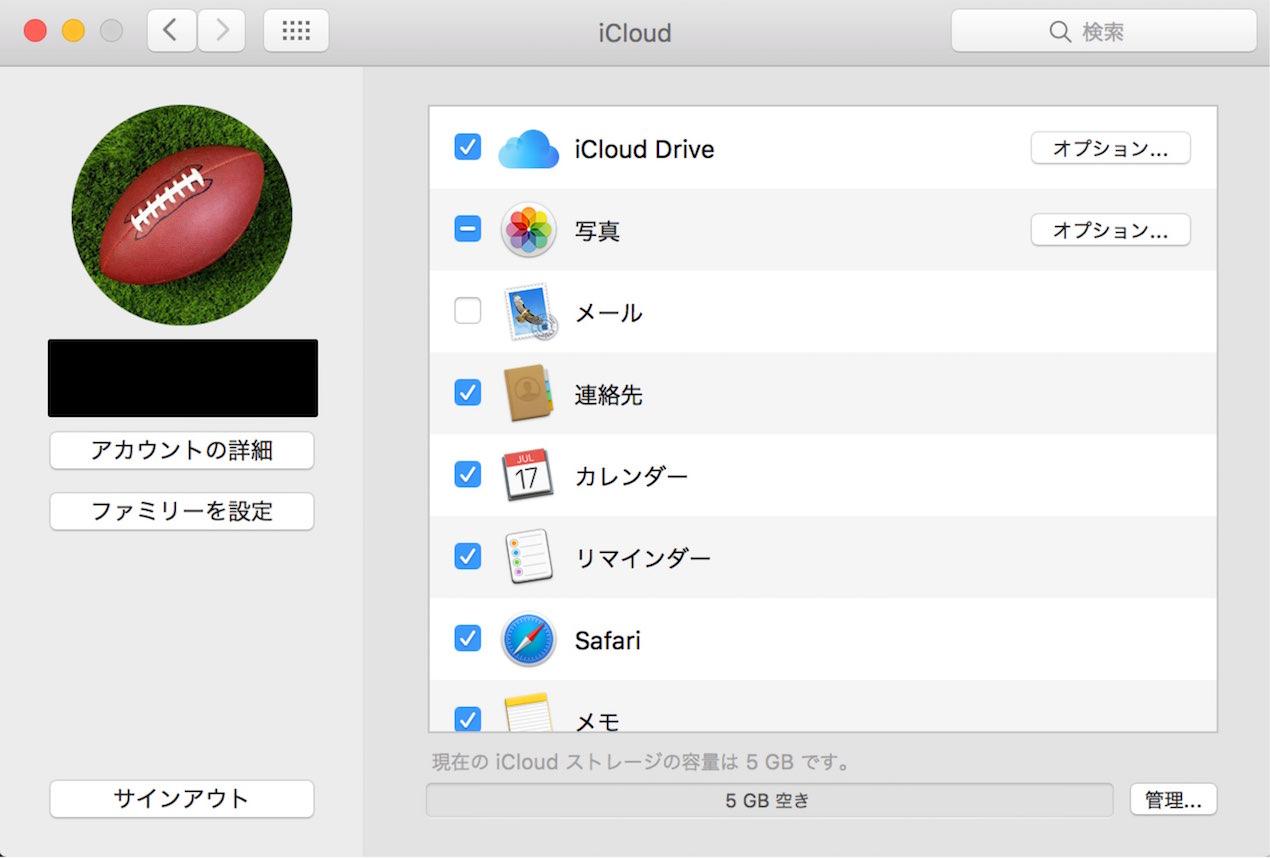 iCloud同期項目