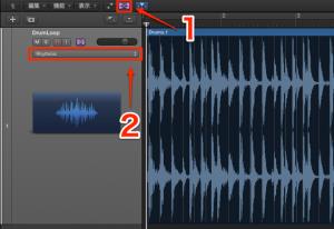 オーディオループをMIDI鍵盤へ配置する