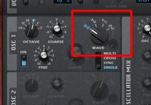 オシレーター_OSC_波形の選択