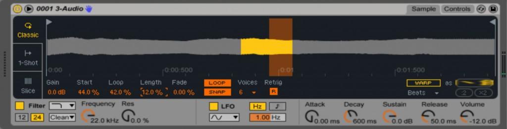 Ableton Live 9.5 新機能 Simplerについて