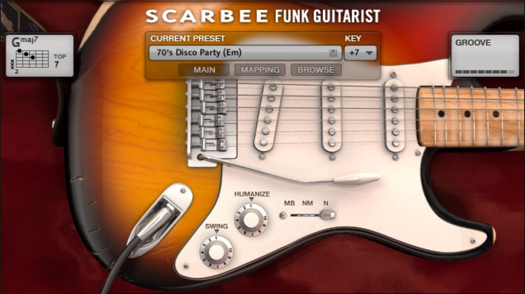 Scarbee Funk Guitarist 1_基本概要とコード管理