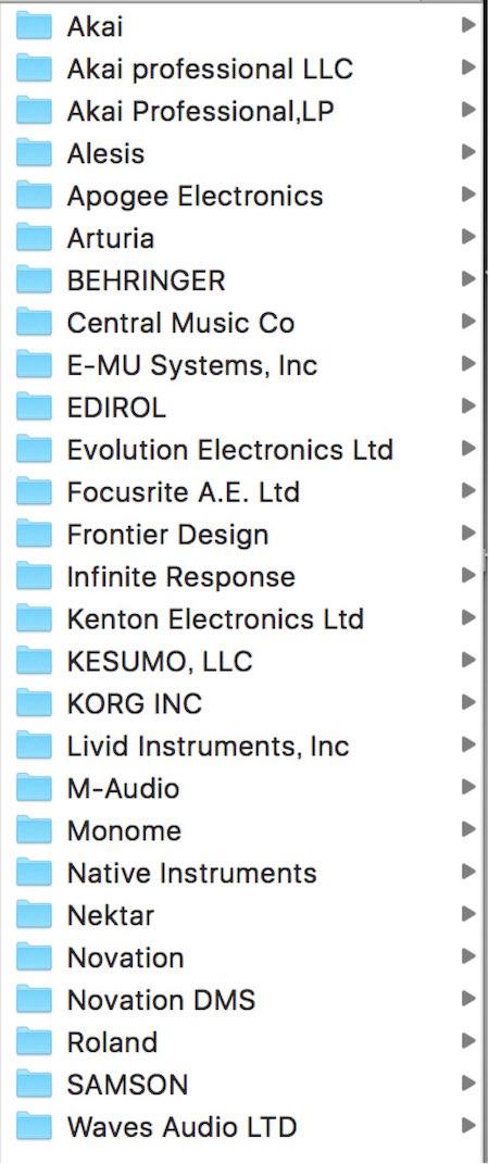 MIDI Device Scripts