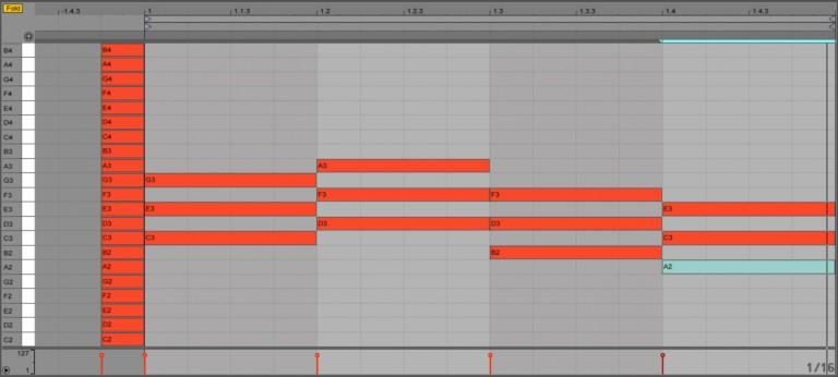 Foldボタンで簡単コード入力 Ableton Live Tips