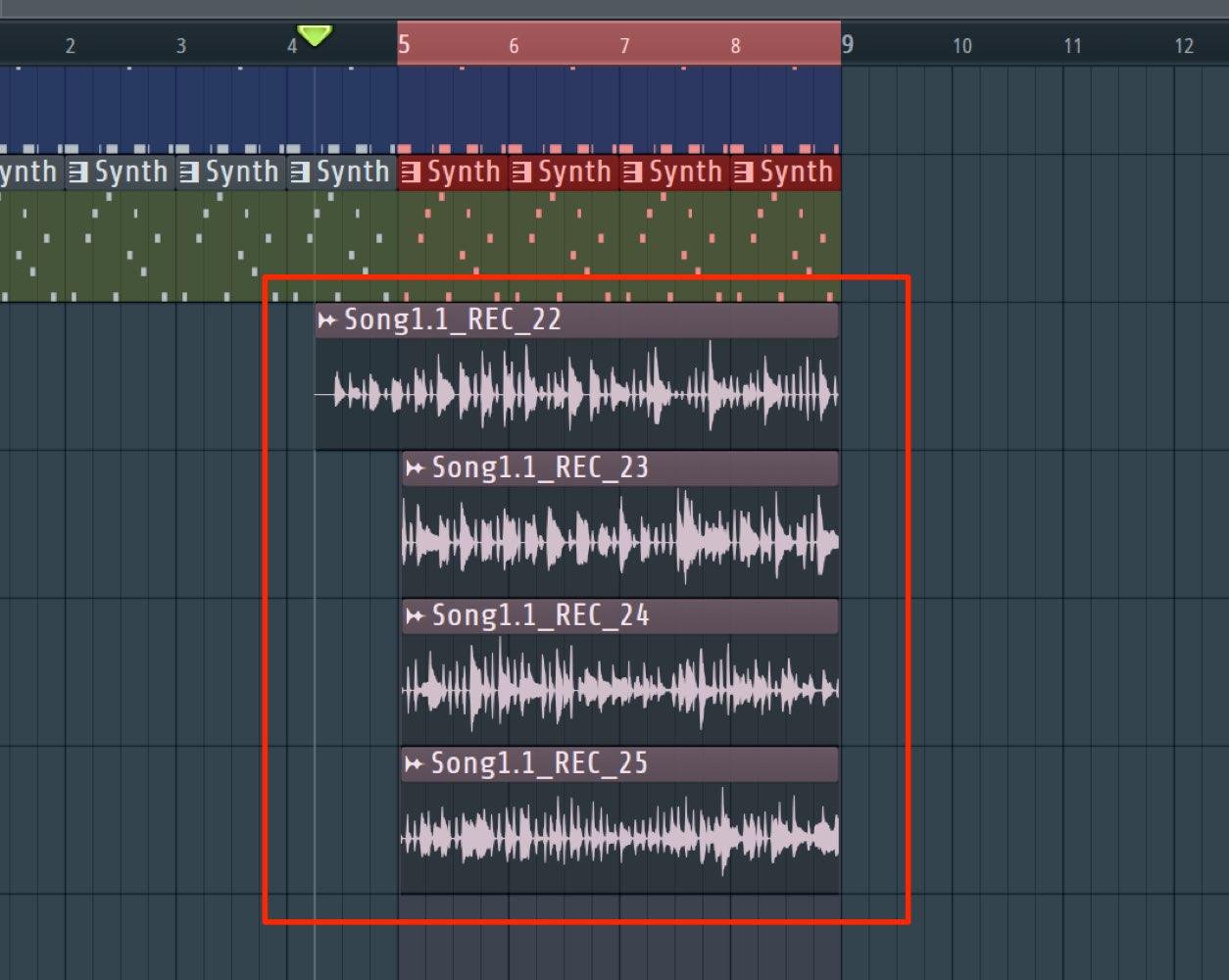 レコーディング波形