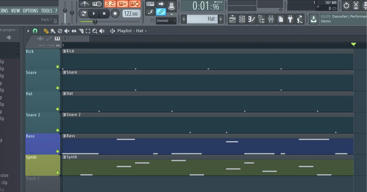 18 クリップを編集する コピー/結合/分割/伸縮 FL Studio