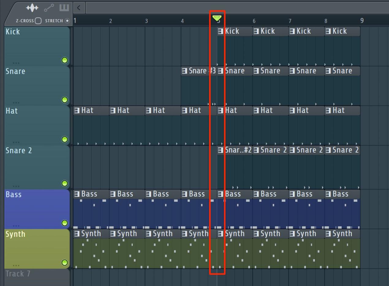 レコーディングの箇所