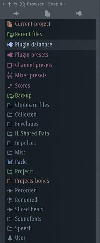 ブラウザの表示状態を記憶するスナップ機能 FL Studio