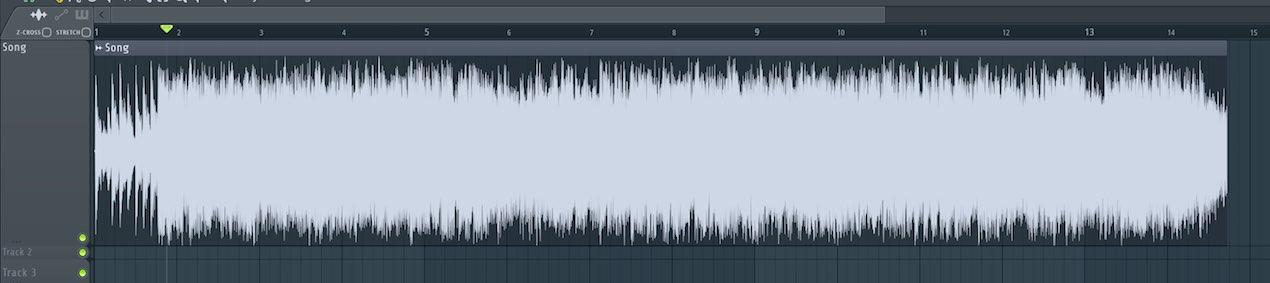 フェードイン/アウトを設定する FL Studio