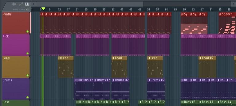 マーカーを使用して楽曲構成を素早く管理する FL Studio