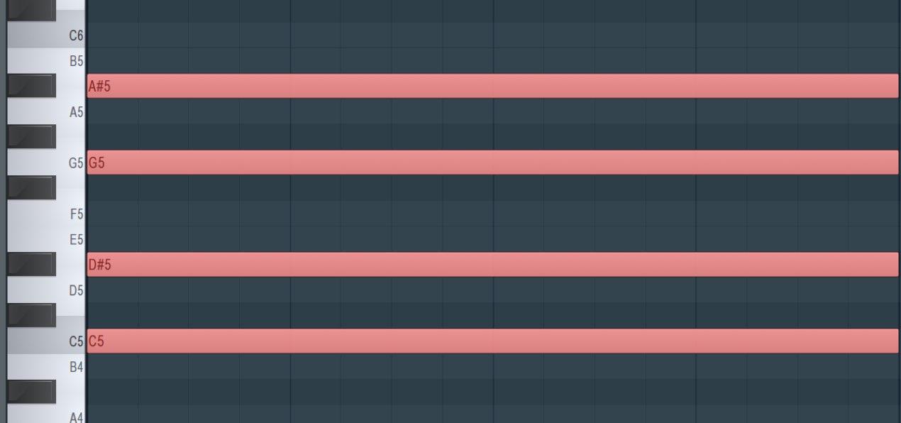 スタンプで音程やコードを効率的に打ち込む FL Studio